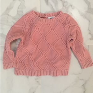 Old Navy Shirts & Tops - Old Navy Pink Baby Sweater 18-24 months